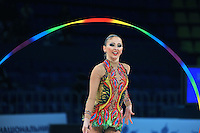 "DARIA KONDAKOVA of Russia performs on way to All Around win at 2011 World Cup Kiev, ""Deriugina Cup"" in Kiev, Ukraine on May 7, 2011."