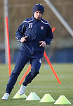 Barry Ferguson in action on the training field