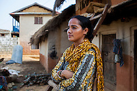 Bimala Saijwal of Save the Children's partner NGO Safer Society speaks of child marriage issues and the empowerment that Child Clubs give children in Thahuri Tole, Chhinchu, Surkhet district, Western Nepal, on 1st July 2012. Save the Children and their local partner NGO Safer Society with the Nepal government support Child Clubs as they advocate for child rights and against child marriages and use peer support and education to end child marriages and raise awareness. Photo by Suzanne Lee for Save The Children UK