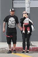 Pink, Carey Hart & son Willow in Venice Beach