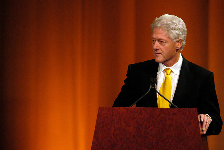 President Bill Clinton speaks at Rep. John Dingell's (D-Mi.) 50th anniversary party in the National Building Museum.
