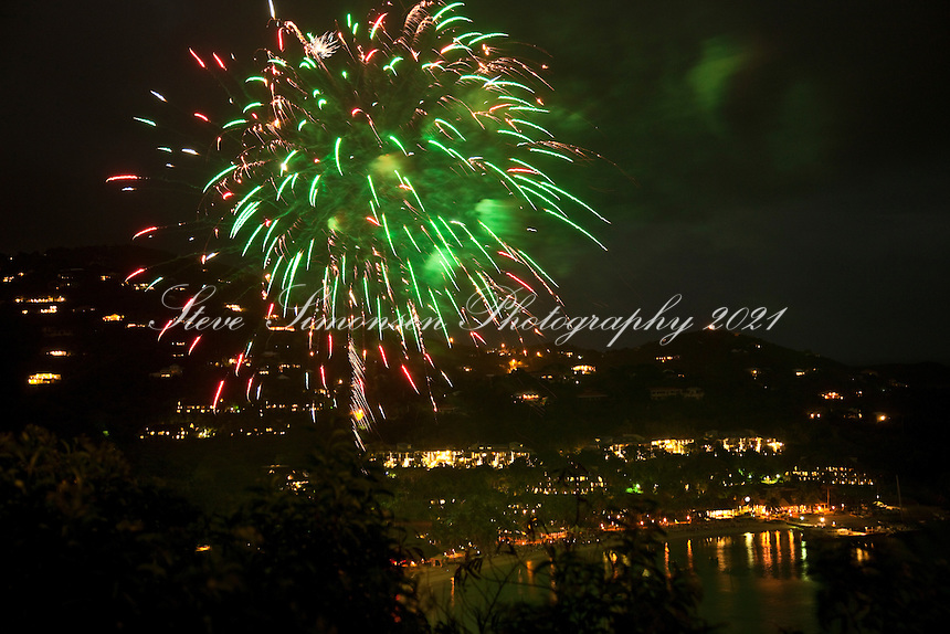 Fireworks over the Westin<br /> New Year's Eve 2010<br /> St. John<br /> U.S. Virgin Islands