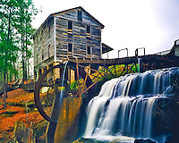 Spring at Dun's Falls Mill along the Chunky River, Mill site since 1854, Near Meridian, Mississippi