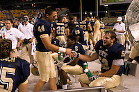 01 September 2007:Pittsburgh linebackers Nate Nix (44) and Dan Loheyde (52)..The Pitt Panthers defeated the Eastern Michigan Eagles 27-3 at Heinz Field, Pittsburgh, Pennsylvania.
