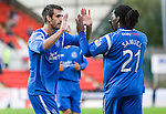 St Johnstone v Morton..24.08.10  CIS Cup Round 2.Scott Dobie celebrates his goal with Collin Samuel.Picture by Graeme Hart..Copyright Perthshire Picture Agency.Tel: 01738 623350  Mobile: 07990 594431