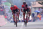 Silvan Dillier (SUI) BMC Racing Team wins Stage 6 of the 100th edition of the Giro d'Italia 2017, running 217km from Reggio Calabria to Terme Luigiane, Italy. 11th May 2017.<br /> Picture: LaPresse/Gian Mattia D'Alberto   Cyclefile<br /> <br /> <br /> All photos usage must carry mandatory copyright credit (&copy; Cyclefile   LaPresse/Gian Mattia D'Alberto)