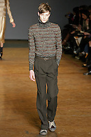 Matt Hitt walks runway in an outfit from the Marc by Marc Jacobs Fall/Winter 2011 collection, during New York Fashion Week, Fall 2011.