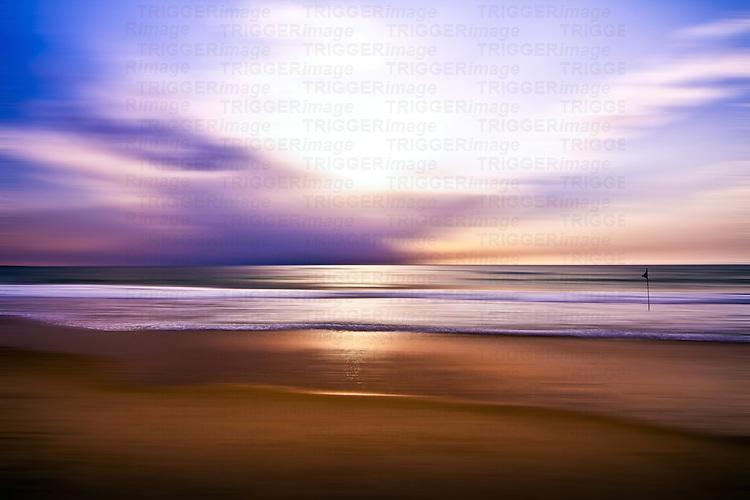 Conceptual beach scene
