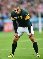Bryan Habana of South Africa looks on during a break in play. Rugby World Cup Pool B match between South Africa and the USA on October 7, 2015 at The Stadium, Queen Elizabeth Olympic Park in London, England. Photo by: Patrick Khachfe / Onside Images