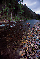A fly fisherman on Rock Creek near Missoula, Montana.