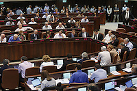 MK`s vote on the so-called governability law. The governance law would raise the electoral threshold from 2 percent to 4 percent. Photo by Oren Nahshon