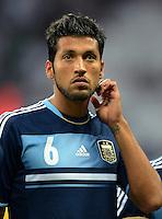 FUSSBALL Nationalmannschaft Freundschaftsspiel:  Deutschland - Argentinien             15.08.2012 Ezequiel Gago (Argentinien)