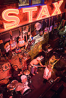 Memphis, Tennessee, February 2009. Live music at Rum Boogie Cafe, during the 25th International Blues Challenge. Beale Street is known for its famous Blues Clubs with daily live performances. The city of Memphis is the place where Blues and Soul Music grew famous. Photo by Frits Meyst/Adventure4ever.com