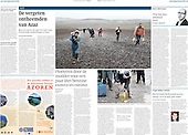 Tearsheet of Aram Karmi's photography in the Dutch newspapers, Trouw.