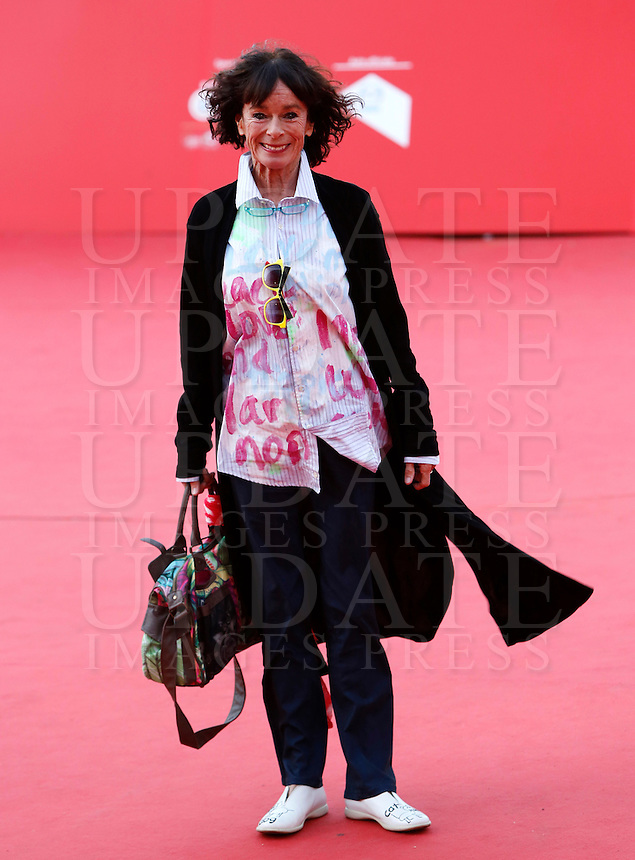 L'attrice Geraldine Chaplin posa sul red carpet al Festival Internazionale del Film di Roma, 22 ottobre 2014.<br /> Actress Geraldine Chaplin poses on the red carpet of the international Rome Film Festival at Rome's Auditorium, ** October 2014.<br /> UPDATE IMAGES PRESS/Riccardo De Luca