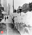 After the blizzard of 1888 in Waterbury.