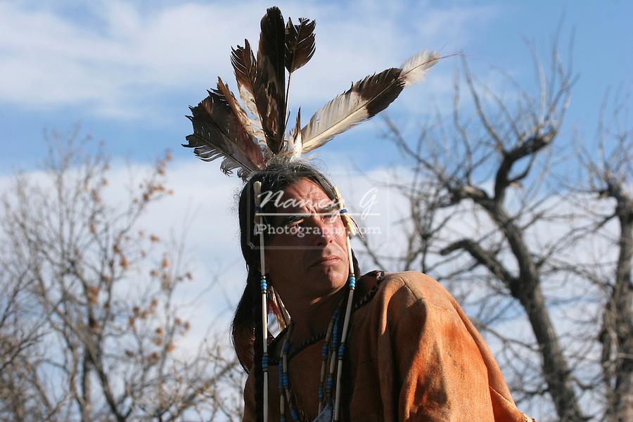 A Native American Indian man portrait