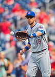 15 June 2016: Chicago Cubs second baseman Ben Zobrist warms up prior to a game against the Washington Nationals at Nationals Park in Washington, DC. The Cubs fell to the Nationals 5-4 in 12 innings in the rubber match of their 3-game series. Mandatory Credit: Ed Wolfstein Photo *** RAW (NEF) Image File Available ***
