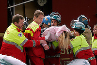 Emergency services respond to a simulated terror attack in the centre of Oslo. Police, Fire Department and Ambulance services were called to three different locations to deal with the aftermath of terrorist attacks. The simulated terrorism was aimed at the underground, a train and a bus.