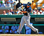 11 March 2009: New York Yankees' outfielder Melky Cabrera in action during a Spring Training game against the Detroit Tigers at Joker Marchant Stadium in Lakeland, Florida. The Tigers defeated the Yankees 7-4 in the Grapefruit League matchup. Mandatory Photo Credit: Ed Wolfstein Photo