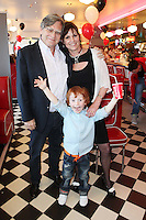 "NO REPRO FEE. 26/5/2011. NEW EDDIE ROCKET'S SHAKE SHOP. Des Fagan, Jessica Fortune and Robert Fortune are pictured in the new Eddie Rocket's Shake Shop. The design seeks to recall the vintage milkshake bars from 1950's America and re-imagine them for the 21st century. The new look aims to appeal to both young and old with a quirky and bold colour scheme and a concept of make-your-own milkshakes, based on the tag line ""You make it...We shake it!"". Eddie Rocket's City Diner in the Stillorgan Shopping Centre in south Dublin has re-opened after an exciting re-vamp and the addition of a Shake Shop. Ten new jobs have been created with the Diner's re-launch bringing the total working in Eddie Rocket's Stillorgan to 30. Picture James Horan/Collins Photos"