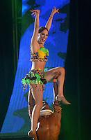 BARRANQUILLA-COLOMBIA- 22-01-2017: Con la Lectura del Bando, la Reina del Carnaval de Barranquilla 2017, Stephanie Mendoza Vargas, comenzó a mandar desde la noche de este sábado, tras un soberbio espectáculo dancístico musical. El evento se realizó en la Plaza de La Paz. / With Reading Bando, the Barranquilla Carnival Queen 2017, Stephanie Mendoza Vargas, began to command from this Saturday night after a superb show's dance musical. The event was held at the Plaza de La Paz en Barranquilla, Colombia. Photo: VizzorImage / Alfonso Cervantes / Cont.