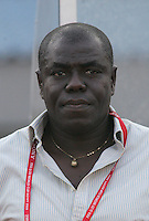 Ghana's Coach Sellas Tetteh stands on the field before the game against Hungary at the FIFA Under 20 World Cup Semi-final match at the Cairo International Stadium in Cairo, Egypt, on October 13, 2009. Costa Rica won the match 1-2 in overtime play. Ghana won the match 3-2.