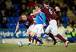 Hearts v St Johnstone...14.02.12.. Scottish Cup 5th Round Replay.Murray Davidson scores for Saints.Picture by Graeme Hart..Copyright Perthshire Picture Agency.Tel: 01738 623350  Mobile: 07990 594431