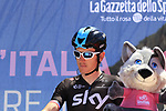 Geraint Thomas (WAL) Team Sky at sign on in Arbatax before the start of Stage 3 of the 100th edition of the Giro d'Italia 2017, running 148km from Tortoli to Cagliari, Sardinia, Italy. 7th May 2017.<br /> Picture: Eoin Clarke | Cyclefile<br /> <br /> <br /> All photos usage must carry mandatory copyright credit (&copy; Cyclefile | Eoin Clarke)
