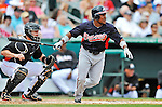 13 March 2012: Atlanta Braves outfielder Jose Constanza in action during a Spring Training game against the Miami Marlins at Roger Dean Stadium in Jupiter, Florida. The two teams battled to a 2-2 tie playing 10 innings of Grapefruit League action. Mandatory Credit: Ed Wolfstein Photo