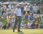 Harrison Frazar putts on the 12th hole in a playoff at the PGA FedEx St. Jude Classic at TPC Southwind in Memphis, Tenn. on Sunday, June 12, 2011. Harrison Frazar won the tournament on the third playoff hole against Robert Karlsson. The victory was Frazar's first ever on the PGA tour.