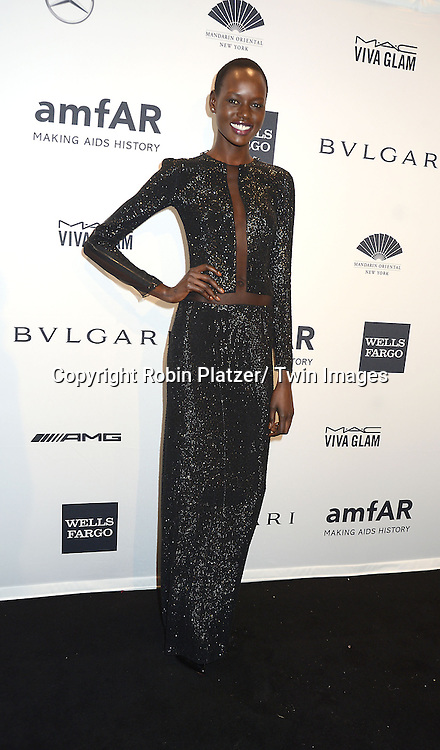 Ajak attends the amfAR New York Gala on February 5, 2014 at Cipriani Wall Street in New York City.