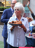 NEW YORK, NY - JULY 7:  Paula Deen celebrates National Fried Chicken Day at 'Fox and Friends' in New York, New York on July 7, 2016.  Photo Credit: Rainmaker Photo/MediaPunch