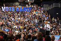 MIAMI, FL - NOVEMBER 03: US President Barack Obama campaigns for Democratic Presidential Candidate Hillary Clinton at Florida international University FIU Arena on November 3, 2016 in Miami, Florida. Credit: mpi04/MediaPunch