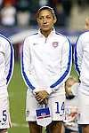24 October 2014: Christen Press (USA). The United States Women's National Team played the Mexico Women's National Team at PPL Park in Chester, Pennsylvania in a 2014 CONCACAF Women's Championship semifinal game, which serves as a qualifying tournament for the 2015 FIFA Women's World Cup in Canada. The United States won the game 3-0. With the victory the U.S. advanced to the championship game and qualified for next year's Women's World Cup.