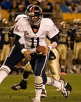 02 September 2006: Virginia quarterback Christian Olsen (11)..The Pitt Panthers defeated the Virginia Cavaliers 38-13 on September 02, 2006 at Heinz Field, Pittsburgh, Pennsylvania. .