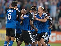 25 May 2014: San Jose Earthquakes' 3-0 win against Houston Dynamo at Buck Shaw Stadium in Santa Clara, California.