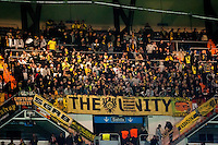 Borussia Dortmund fans in Santiago Bernabeu stadium