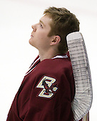 John Muse (BC - 1) - The Northeastern University Huskies defeated the visiting Boston College Eagles 2-1 on Saturday, February 19, 2011, at Matthews Arena in Boston, Massachusetts.