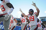 Ole Miss' Layton Jones (89) runs onto the field vs. Kentucky at Commonwealth Stadium in Lexington, Ky. on Saturday, November 5, 2011. Kentucky won 30-13...