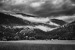 Low hanging clouds in the Selkirk mountains overlooking the Kootenai National Wildlife Refuge