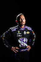 Feb 8, 2017; Pomona, CA, USA; NHRA funny car driver Jack Beckman poses for a portrait during media day at Auto Club Raceway at Pomona. Mandatory Credit: Mark J. Rebilas-USA TODAY Sports