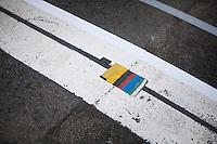 Finish line predicts Peter Sagan's (SVK/Bora - Hansgrohe) victory<br /> <br /> 69th Kuurne-Brussel-Kuurne 2017 (1.HC)
