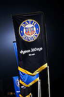 A general view of Bath Rugby flags in the Dyson Stand. Aviva Premiership match, between Bath Rugby and Sale Sharks on October 7, 2016 at the Recreation Ground in Bath, England. Photo by: Rogan Thomson / JMP for Onside Images