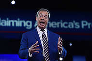 National Harbor, MD - February 24, 2017: Nigel Farage, a member of the European Parliament, speaks to attendees of the Conservative Political Action Conference at the Gaylord Hotel in National Harbor, MD, February 24, 2017.  (Photo by Don Baxter/Media Images International)