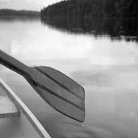 Paddling an Aluminum Canoe on a Canadian Lake