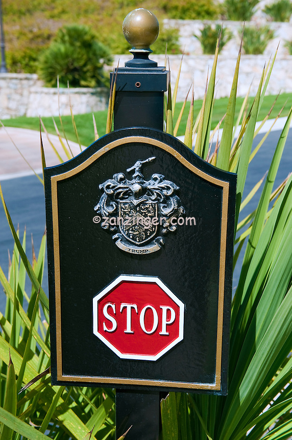 Rancho Palos Verdes, CA, Trump National Golf Course, Stop Sign, Palos Verdes, Peninsula, Trump National Golf Club,