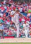 30 August 2015: Washington Nationals pitcher Felipe Rivero on the mound against the Miami Marlins at Nationals Park in Washington, DC. The Nationals rallied to defeat the Marlins 7-4 in the third game of their 3-game weekend series. Mandatory Credit: Ed Wolfstein Photo *** RAW (NEF) Image File Available ***