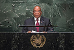 His Excellency Jacob Zuma, President of the Republic of South Africa <br /> <br /> General Assembly Seventieth session 9th plenary meeting: High-level plenary meeting of the (6th meeting)