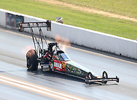 Sep 24, 2016; Madison, IL, USA; NHRA top fuel driver Terry McMillen during qualifying for the Midwest Nationals at Gateway Motorsports Park. Mandatory Credit: Mark J. Rebilas-USA TODAY Sports